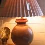 Lampskärm i antikt linne