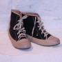 Sneakers i imitations ormskinn