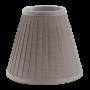 Liten grå lampskärm med veck