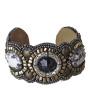 Armband med svart/lilla stenar