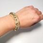 Guld/beige armband med strass
