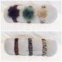 Fint armband med pälstofs, finns i två olika färger