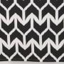 Kökshandduk med svart/vit mönster