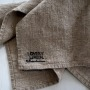 Handduk/servett i tvättat linne