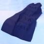 Blå handduk med text