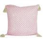 Rosa kudde med fint mönster
