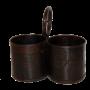 Rustika burkar i återvunnen metall
